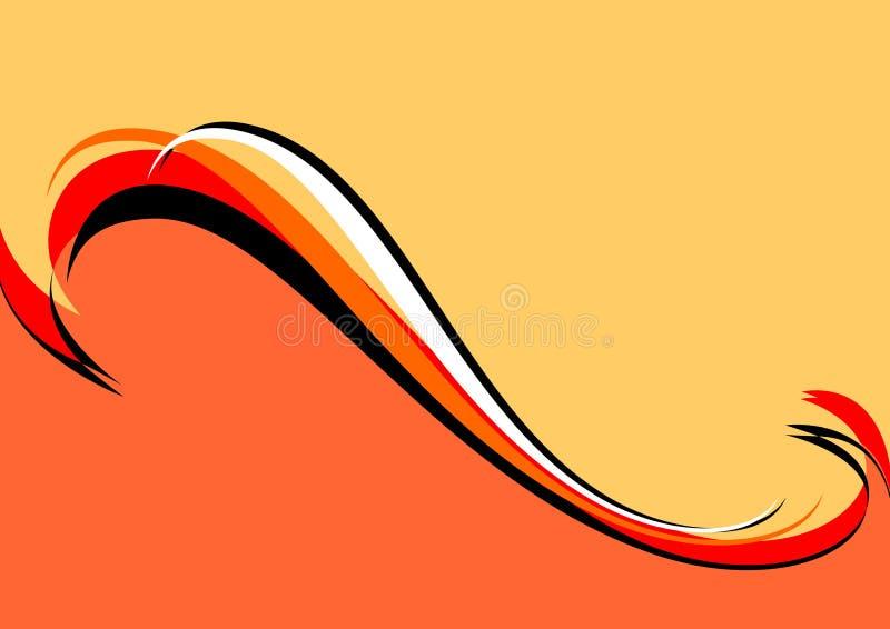 Orange-red-black background. royalty free illustration