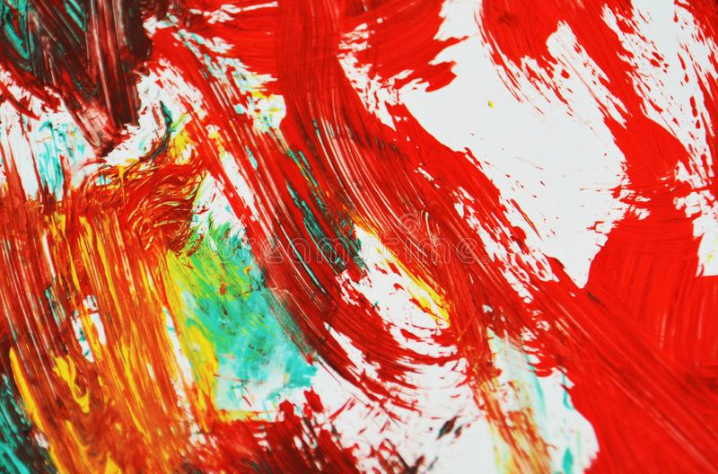 Red green dark white black orange white yellow painting watercolor background, abstract painting watercolor background. Orange red blue black yellow watercolor stock illustration