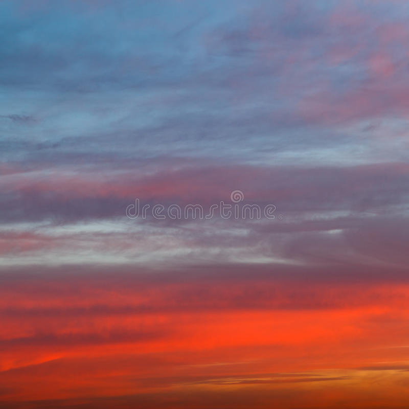 Download Orange Red And Blue Early Morning Sunrise Sky Stock Image - Image: 35396623