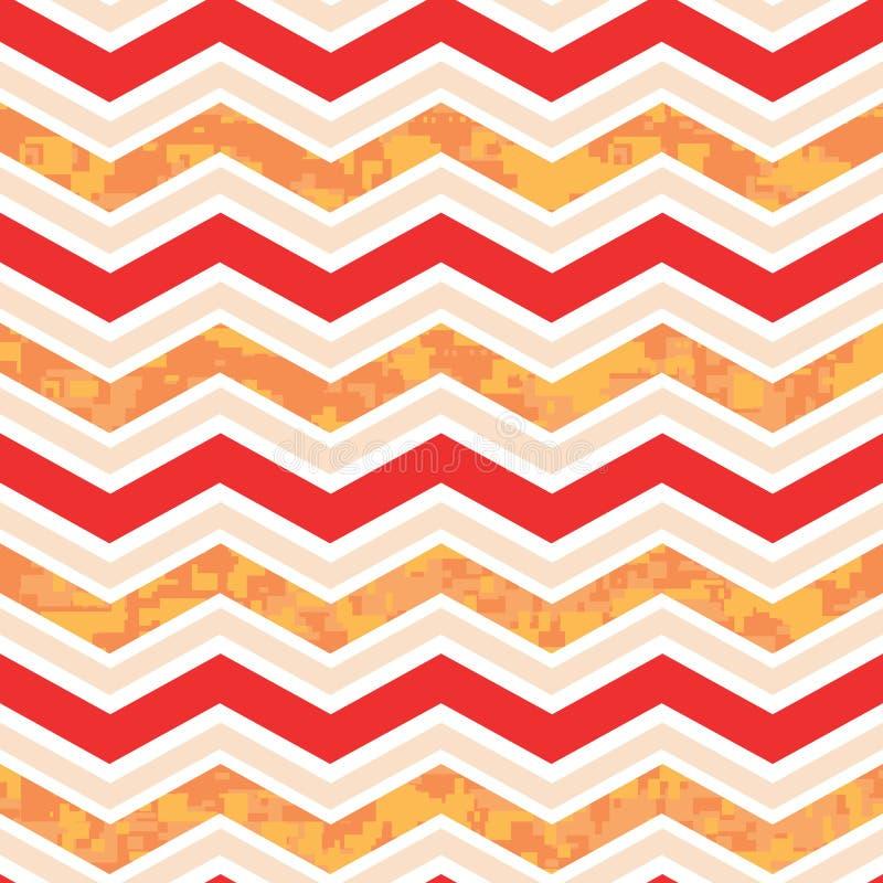 Orange And Red Chevron Camo Stock Photos
