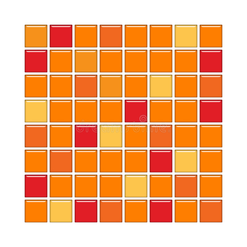 Orange and red glass tiles stock illustration