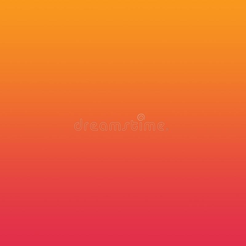 Orange Red Gradient Ombre Background Bright Pattern stock illustration