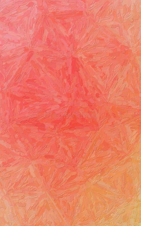 Orange, red and green Impasto with large brush strokes vertical background illustration. Orange, red and green Impasto with large brush strokes vertical royalty free stock image