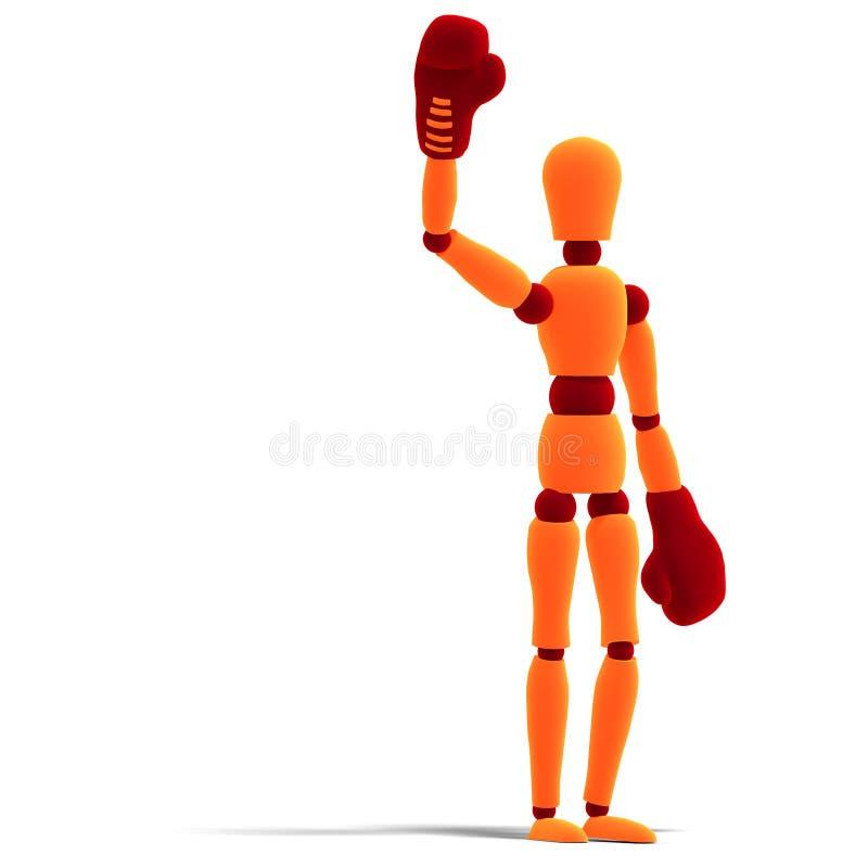 Download Orange / Red  Manikin Is The Winner Stock Illustration - Illustration: 11048410