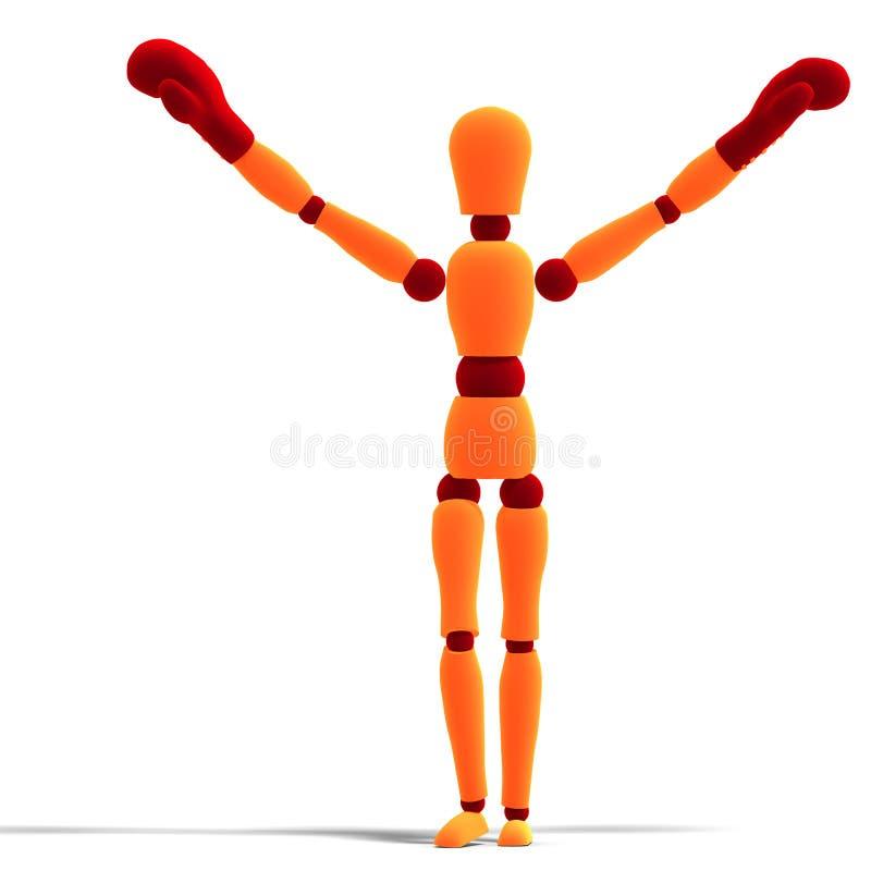 Download Orange / Red  Manikin Is The Winner Stock Illustration - Illustration of boxing, orange: 11234249