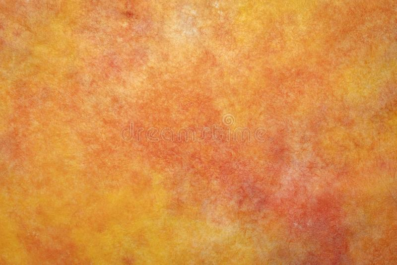 Orange and red marbled momi paper stock photo