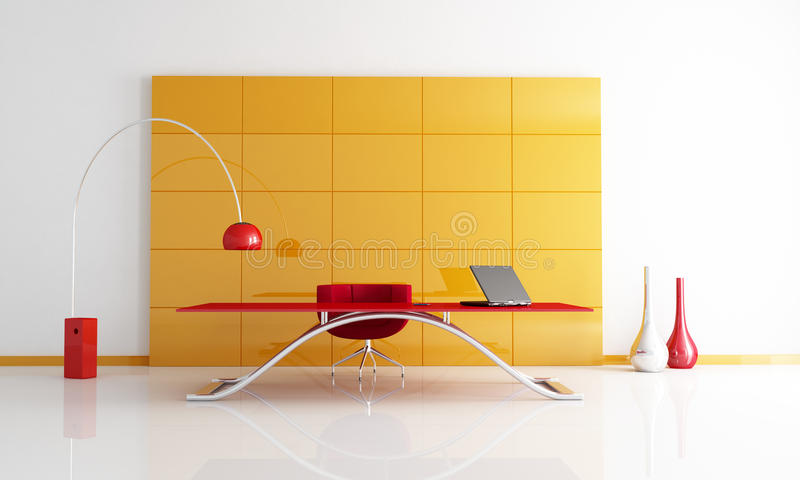 Orange and red office space royalty free stock photo