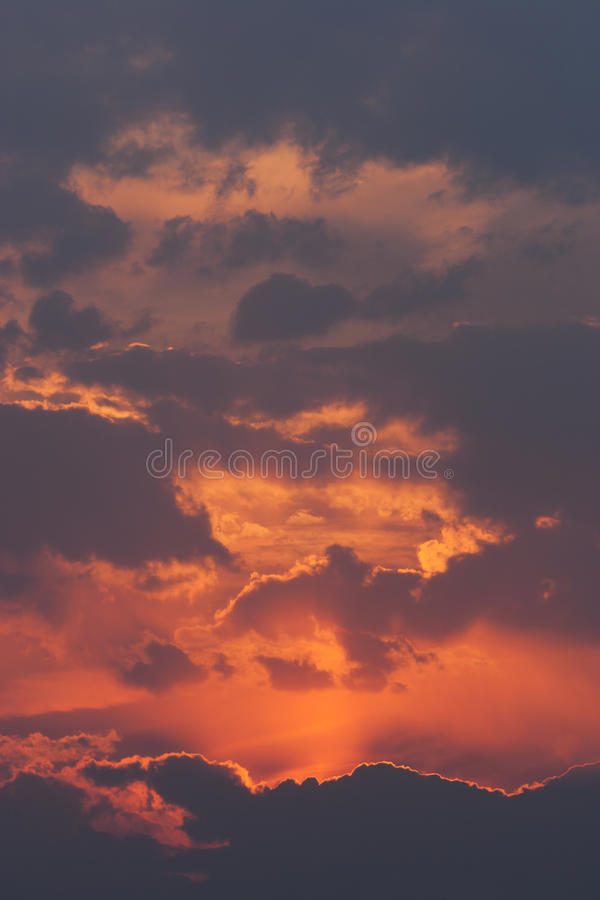 Download Orange And Red Sunset And Cloudscape Stock Photo - Image of color, autumn: 10764226