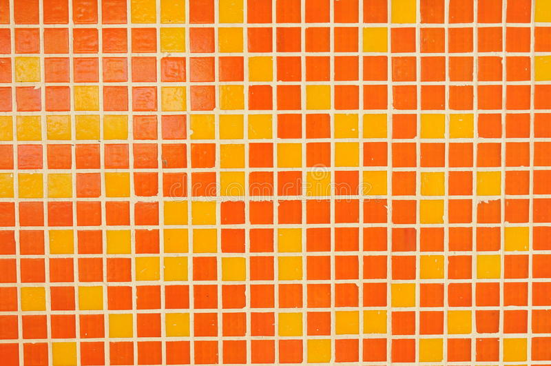 Orange red tile abstract background. Orange red mosaic tile wall background Photo taken on: 2010/05/13 royalty free stock images