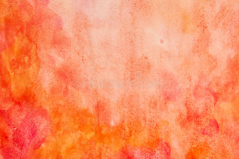 Orange red watercolor abstract stock photo