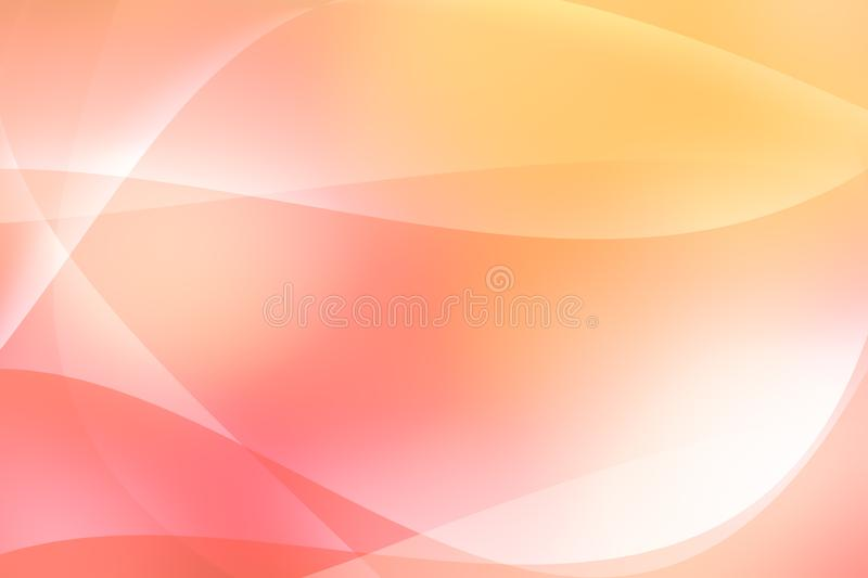 Orange and red wave abstract texture light curve background, stock illustration