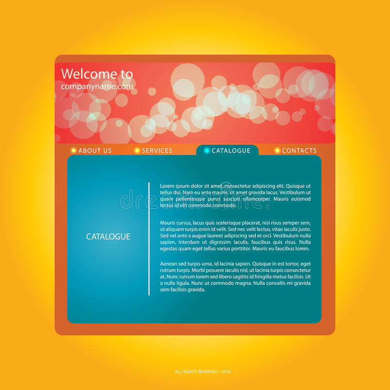 Orange - red webdesign. With bubbles stock illustration