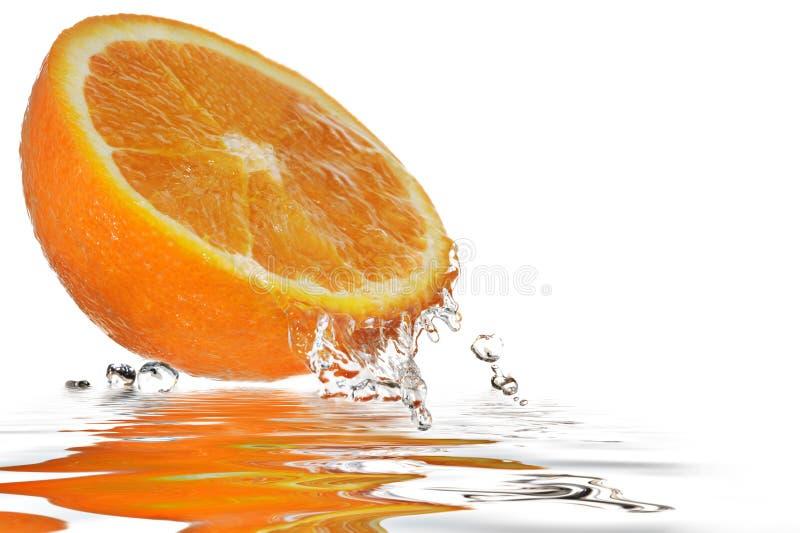 Orange Reflexion Arkivfoton