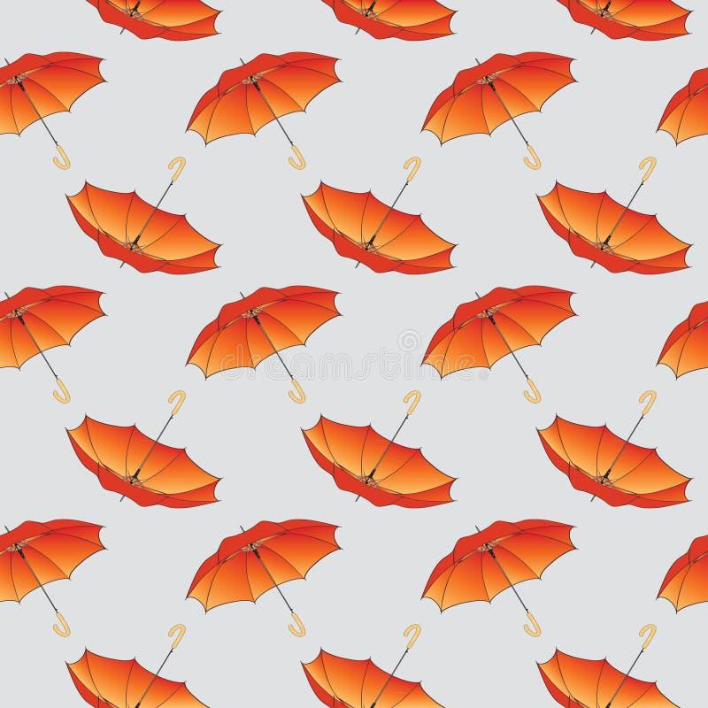 Orange Regenschirmhintergrundmuster. lizenzfreie abbildung