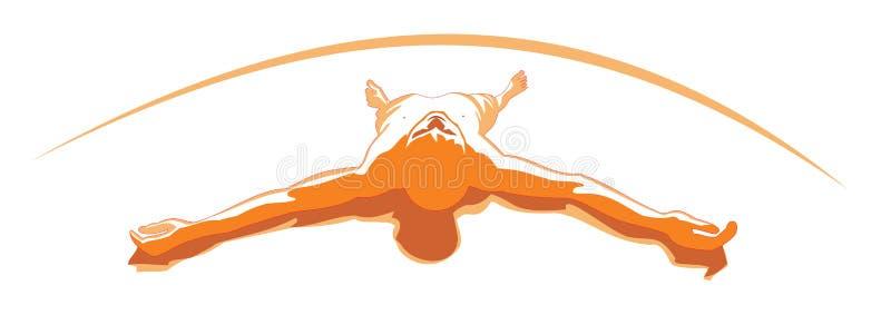 Download Orange relax men stock vector. Illustration of care, alternative - 9576831