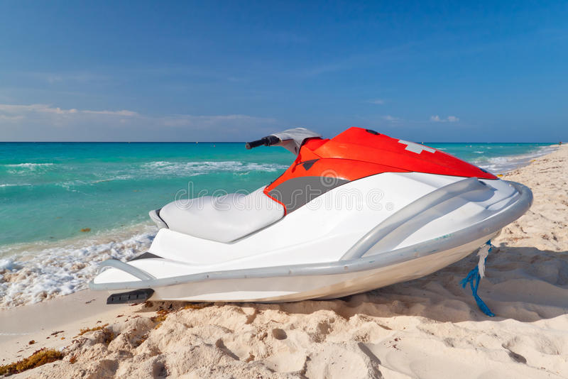 Download Orange rescue jetski stock image. Image of jetski, mexico - 21435777