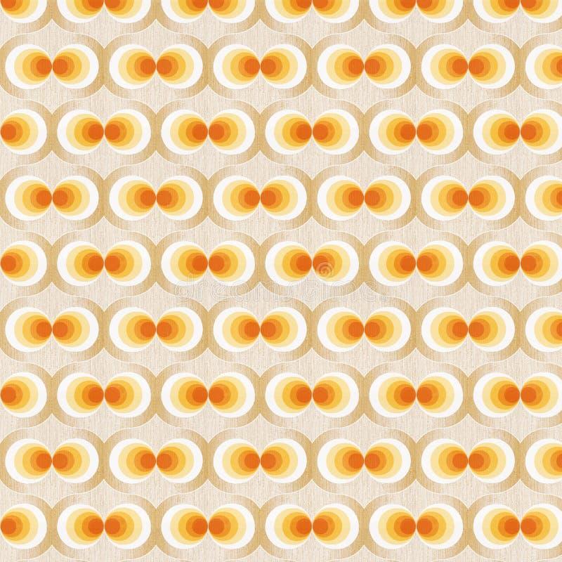 Orange Retro- Tapete stockfotos