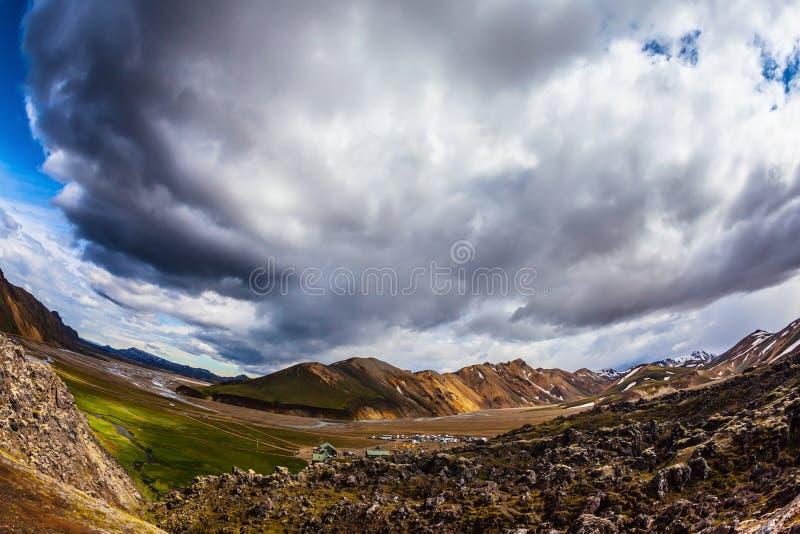 Orange rhyolite mountains stock photos