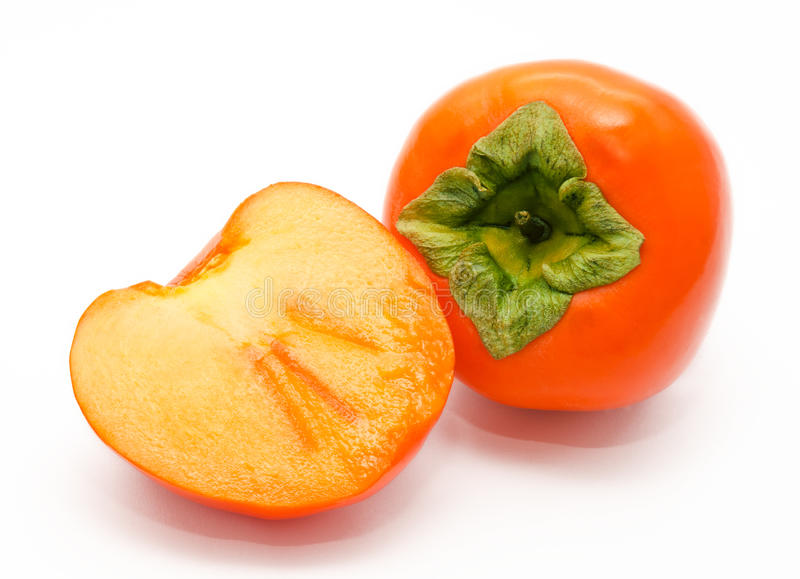 Download Orange Ripe Persimmon Isolated On White Stock Images - Image: 28567404