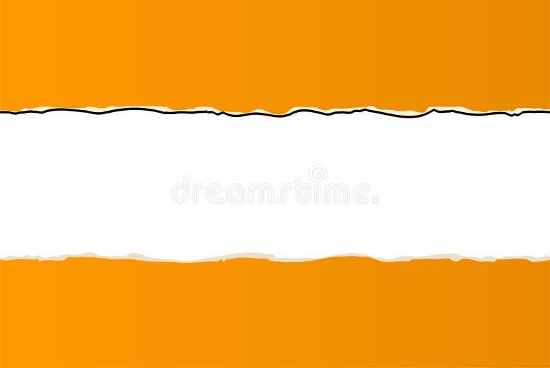 Orange ripped wallpaper royalty free illustration