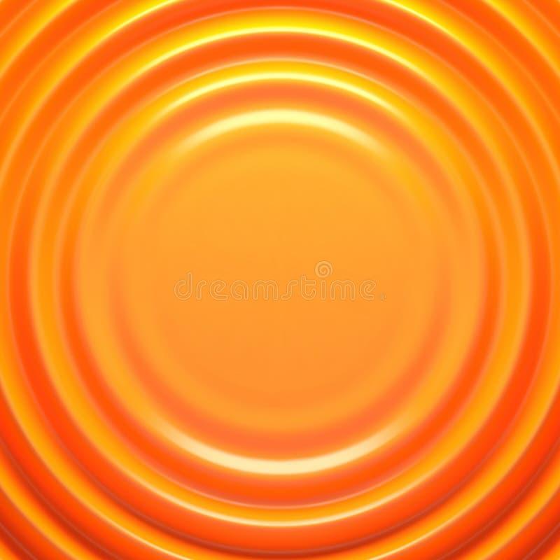 Orange rippled background. Vector illustration EPS 10 royalty free illustration