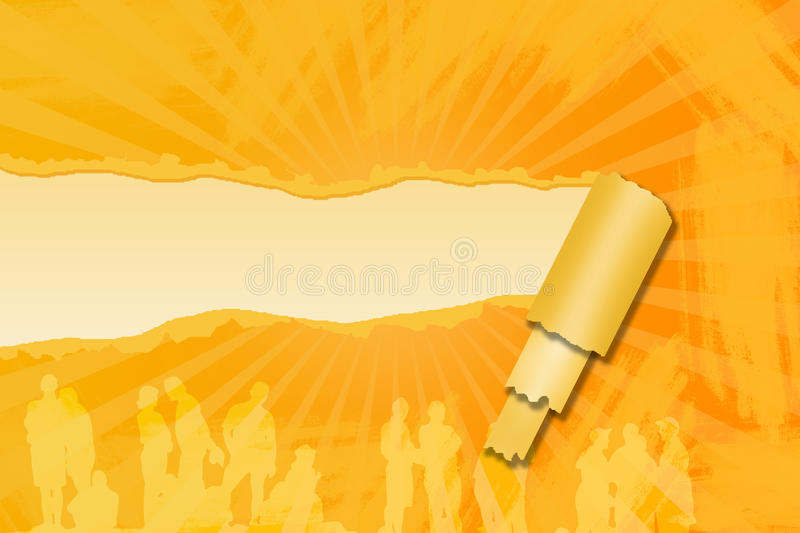 Orange Risspapier lizenzfreie abbildung