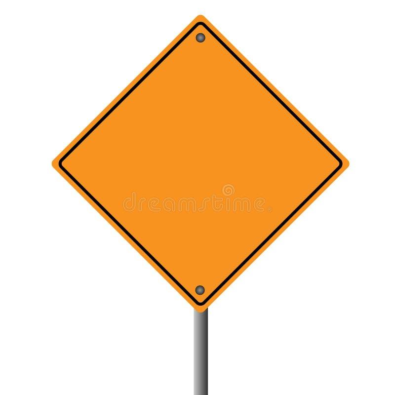 Orange Road Sign. Image of a blank orange road sign royalty free illustration