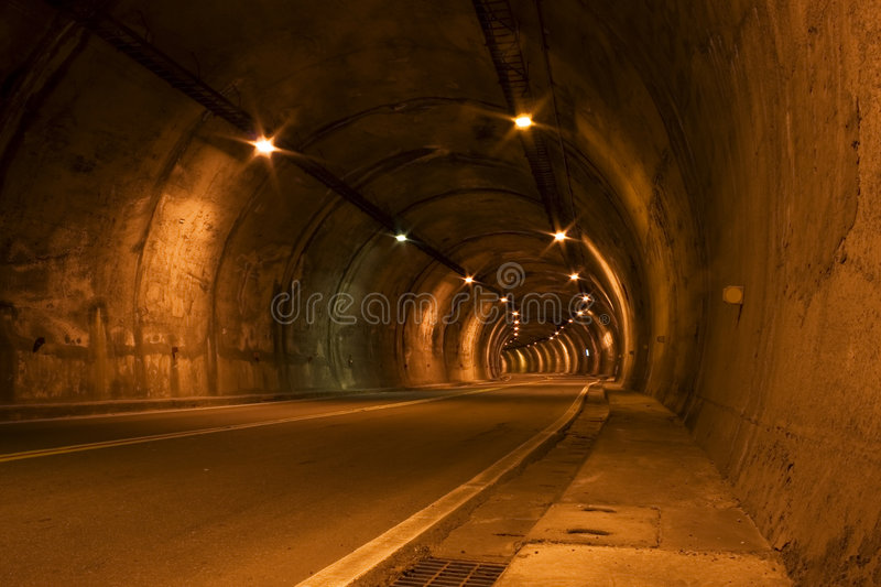 Download Orange Road Tunnel stock image. Image of lights, orange - 8064259