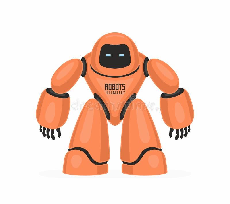 orange robot royaltyfri illustrationer