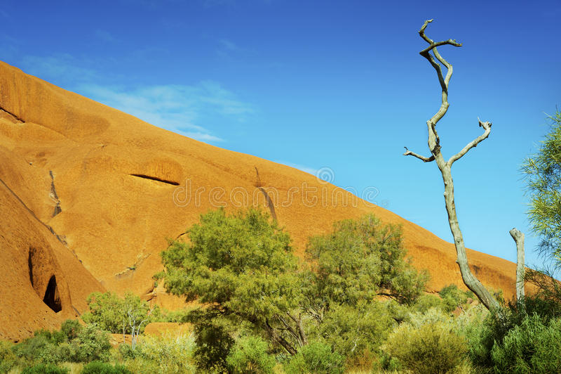 Orange Rock, Blue Sky stock photos