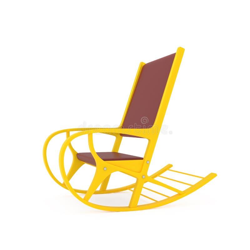Orange Rocking Chair on white royalty free stock photo