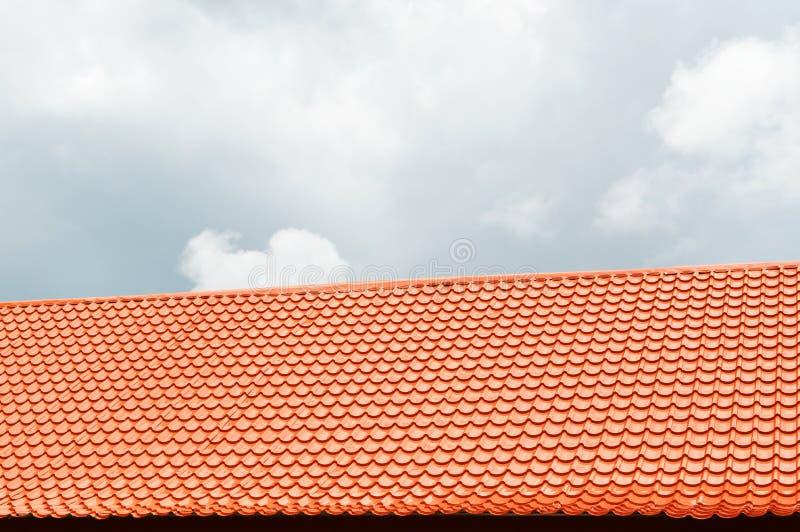 Orange roof royalty free stock images