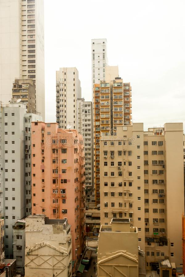 Orange Rooftops of the buildings in hong kong. Orange of Rooftops of the buildings in hong kong royalty free stock photo