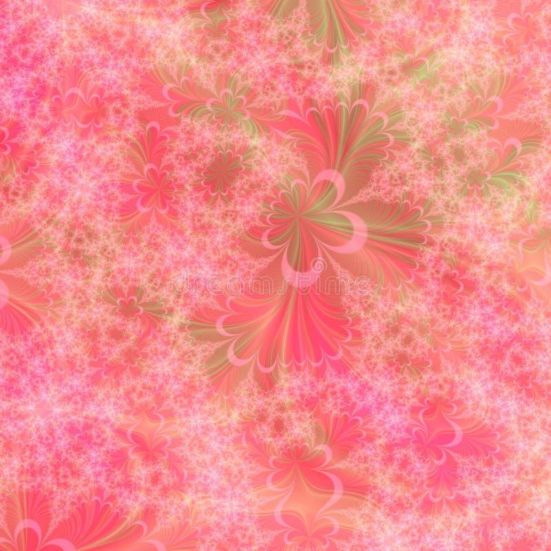 Orange, rosafarbene und grüne abstrakte Hintergrund-Auslegung-Schablone vektor abbildung