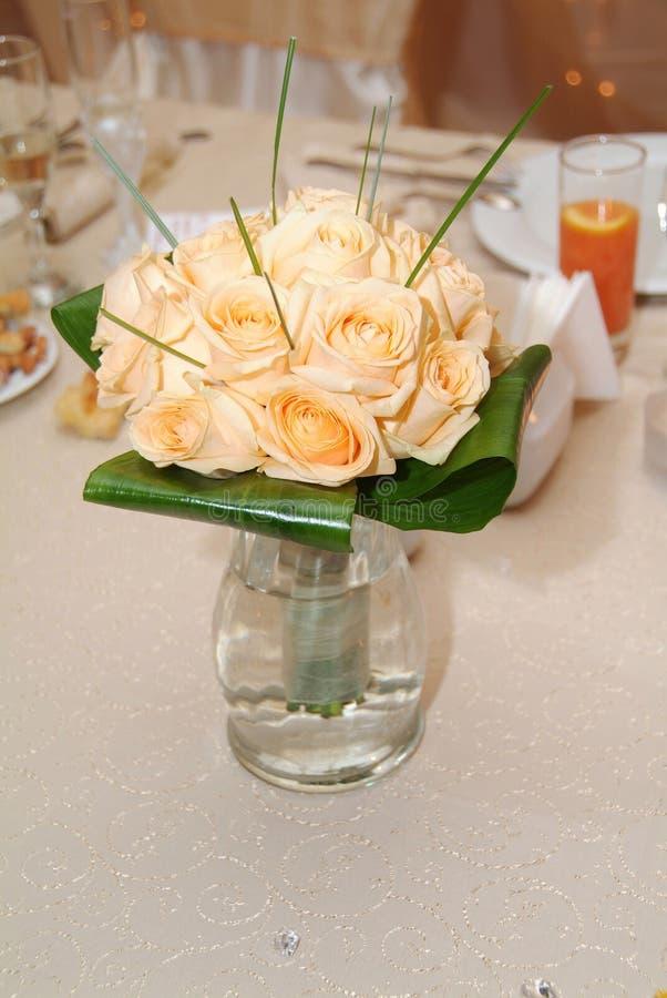Orange roses bouquet royalty free stock photography