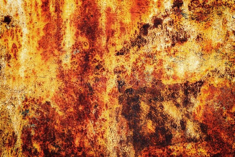 Orange Rost auf Metalloberflächen-Beschaffenheit stockfotografie
