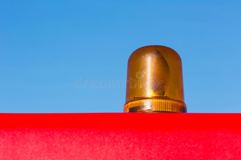 Orange Rotating Warning Light Stock Photography
