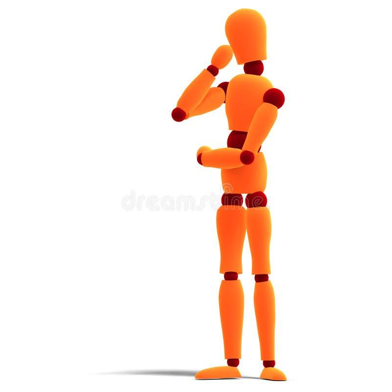 Orange/rotes Männchendenken lizenzfreie abbildung