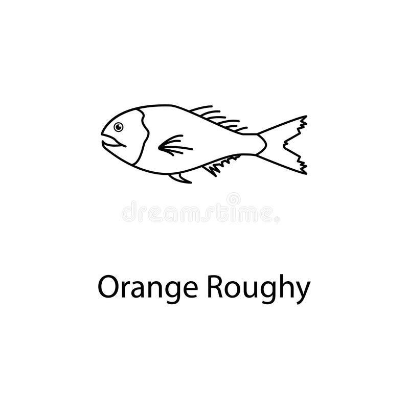 Orange roughy icon. Element of marine life for mobile concept and web apps. Thin line orange roughy icon can be used for web and m. Obile. Premium icon on white stock photography