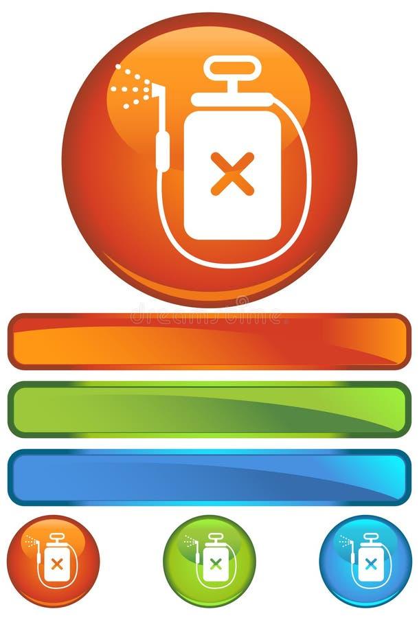 orange rund spray för apparatsymbol royaltyfri illustrationer