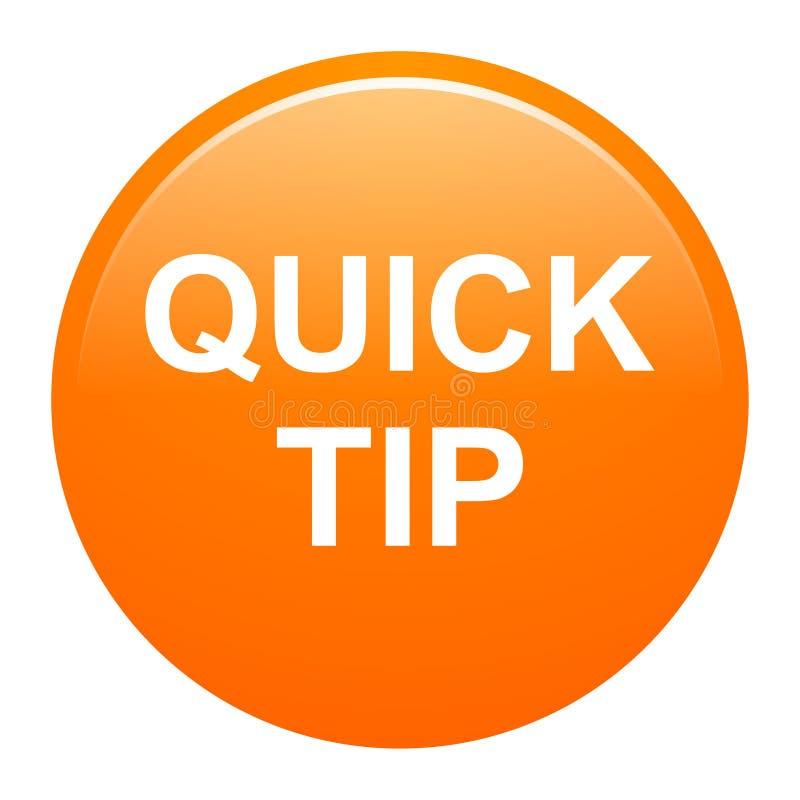 Orange runde Knopfhilfe des schnellen Tipps und Vorschlagskonzept vektor abbildung