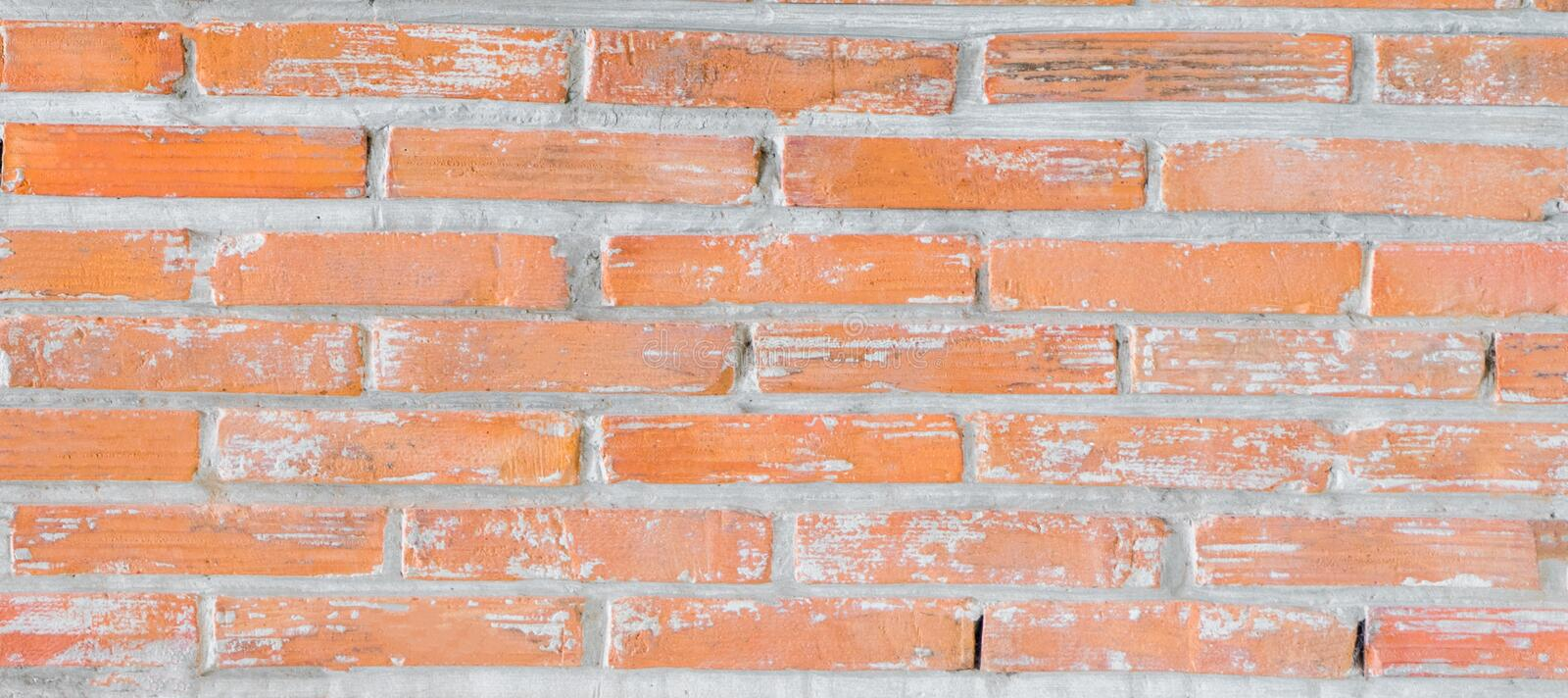 Download Orange Rustic Brick Wall For Banner Background Stock Image
