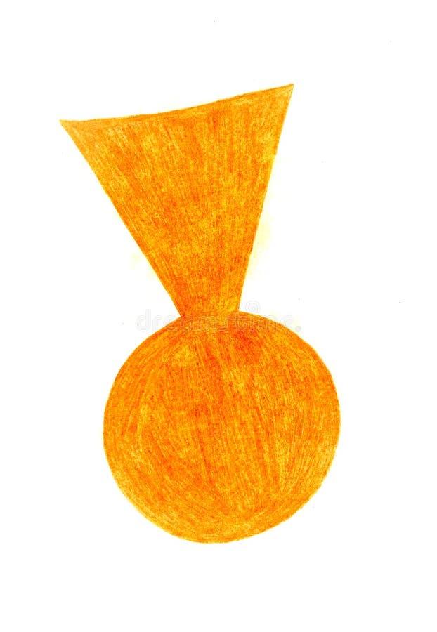 Orange Süßigkeit auf einem weißen Hintergrund stockfotografie