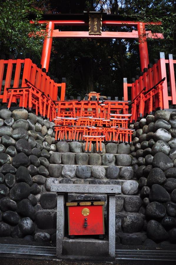 orange s-torii royaltyfri fotografi