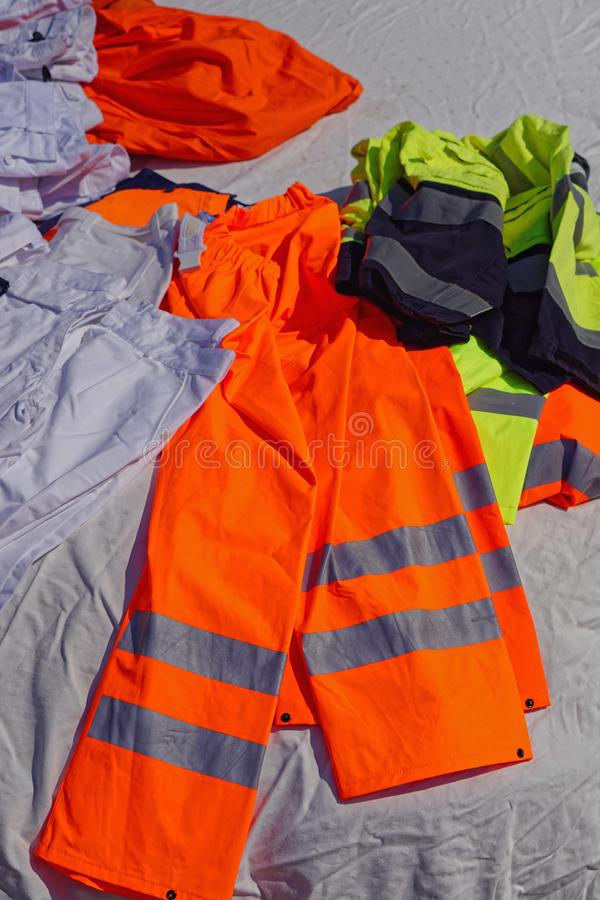 Orange safety gear stock images