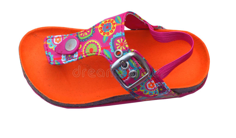 orange sandal royaltyfri fotografi