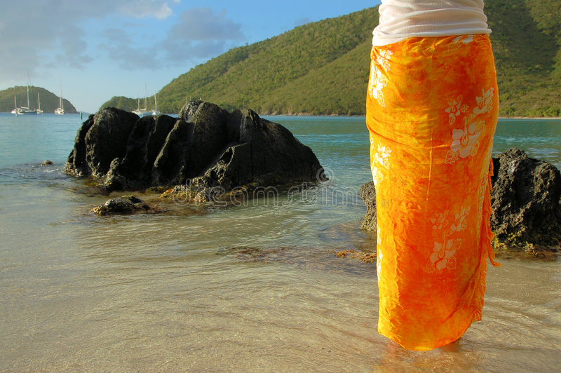 Orange Sarong lizenzfreies stockfoto
