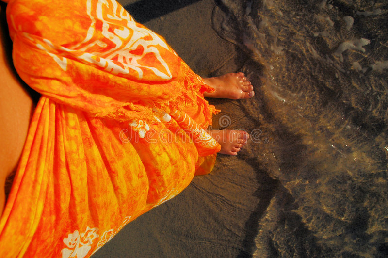 Orange Sarong stockbild