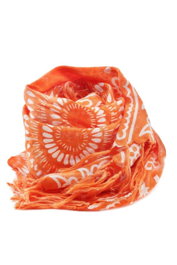 Download Orange scarf fotografering för bildbyråer. Bild av färg - 19786841