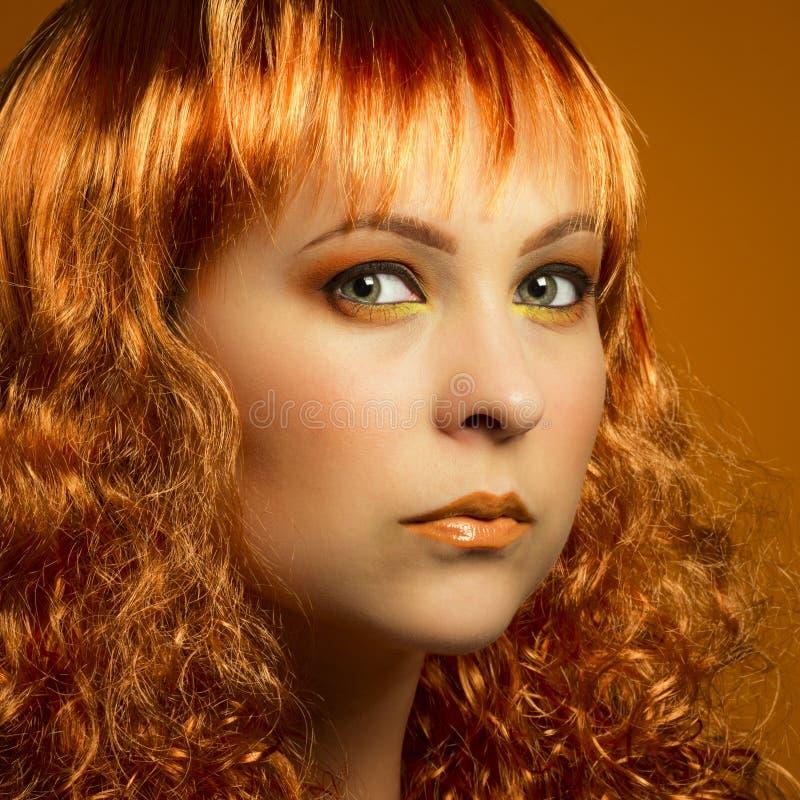 Orange Schönheitsporträt stockbild